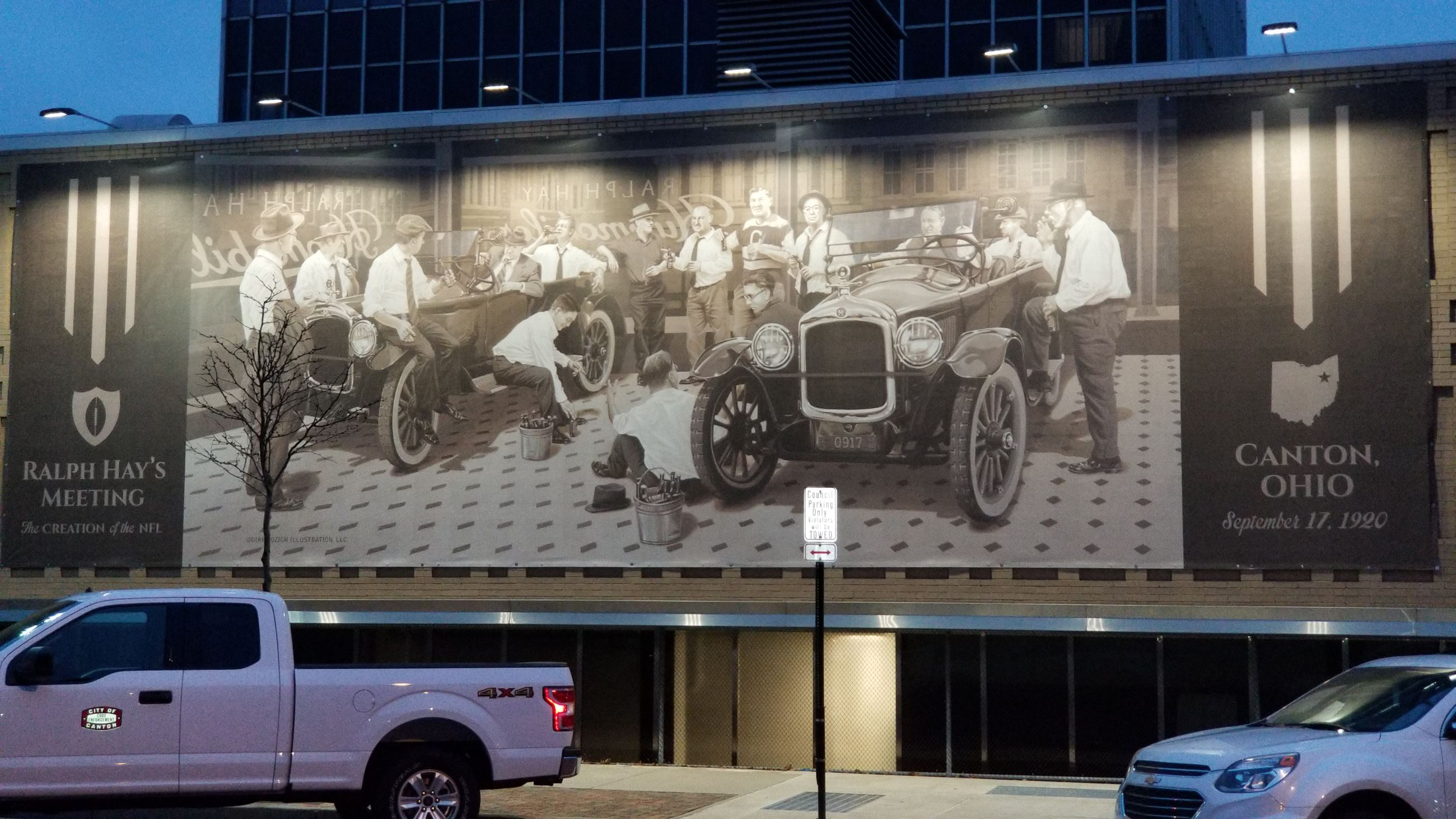 Ralph Hay Dealership on September 17th, 1920, City Hall mural