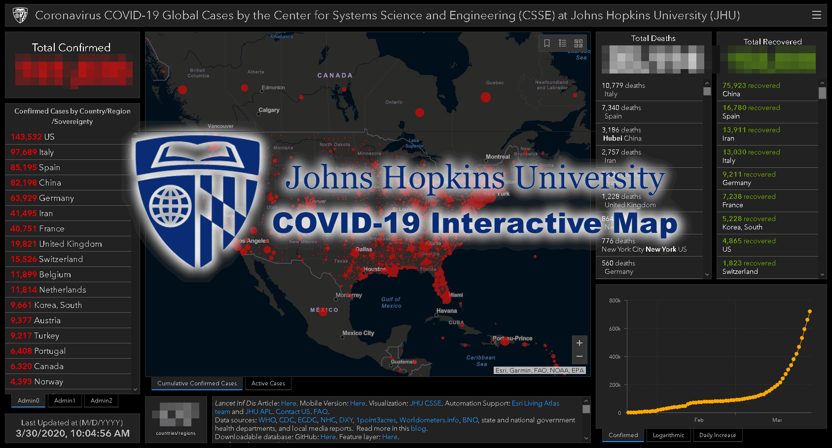 Johns Hopkins COVID-19 Interactive Map