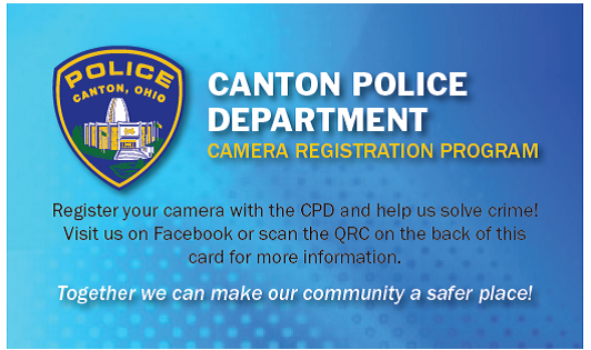 Canton Police Department Camera Registration Program