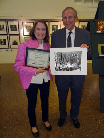 Contest Winner Margie Blake and Mayor Bernabei