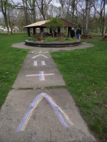 Chalk art at Arbor Day event