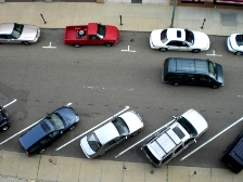 Diagonal Parking Spaces in Downtown Canton